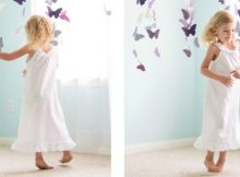 Free sewing pattern for a girls nightgown.
