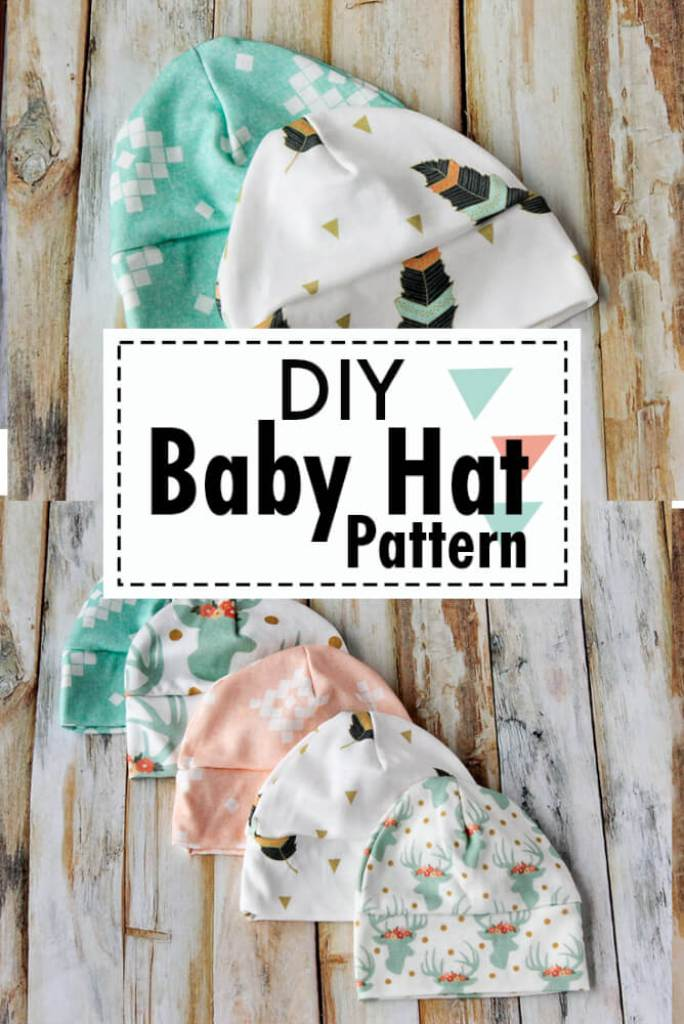 Free baby hat sewing pattern. Picture of baby hats to sew in various different sizes