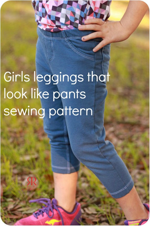 girls leggings sewing pattern, jeggings, jeans