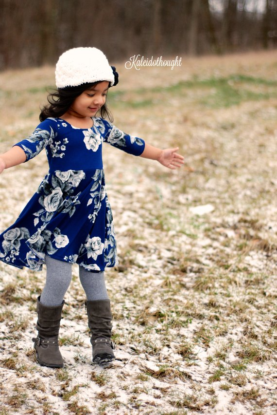 Sahara girls knit dress sewing pattern