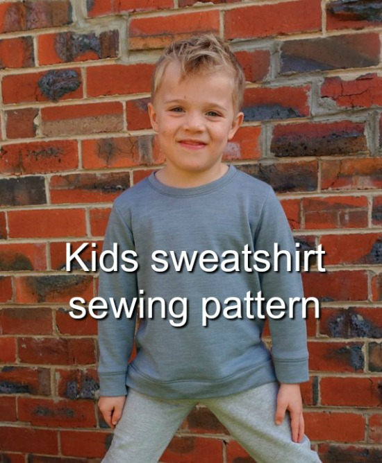 Sammi Sweatshirt, Boys or Girls Multi-size Sweatshirt sewing pattern
