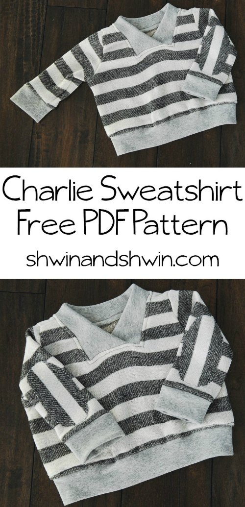 It's a FREE sewing pattern day today and this time it's a sweatshirt for babies. This sewers project is both quick and easy to make. The pattern is for babies roughly 6-12 months and it was originally made by the designer as a gift for a dear friend.