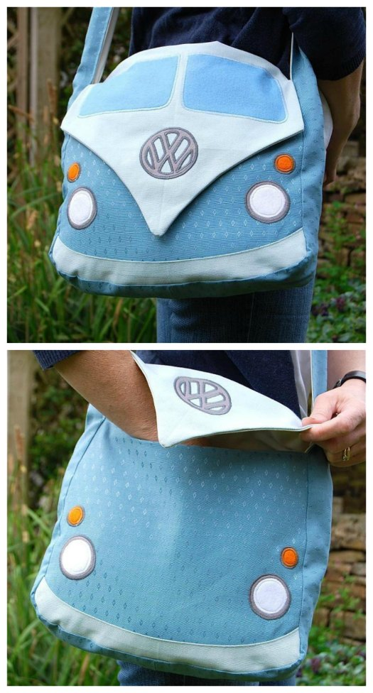 If you want to make a really fun bag for your older children or friend's children then you can get this downloadable pattern here. This sewing pattern allows you to make this very unique bag based on the Splitscreen Volkswagon Campervan. This bag definitely stands out from the crowd and will get many admirers.