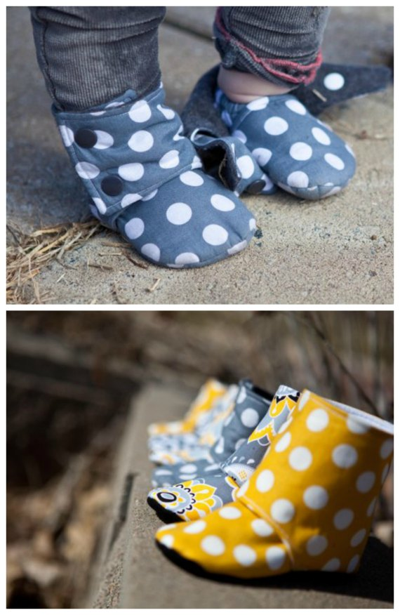Maggie's Stay-On Baby Booties sewing pattern (0-24mths)