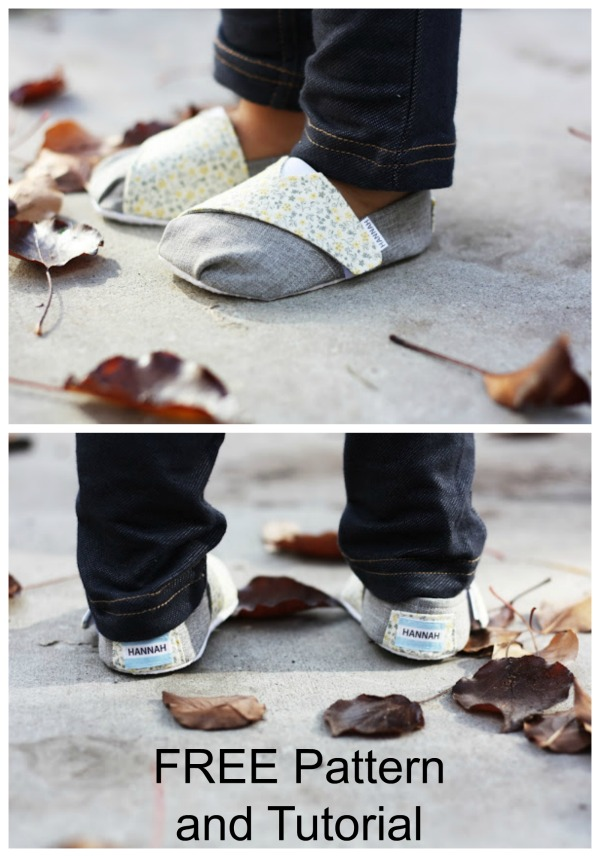 Toms-Inspired Baby and Toddler Shoes – FREE sewing pattern and tutorial