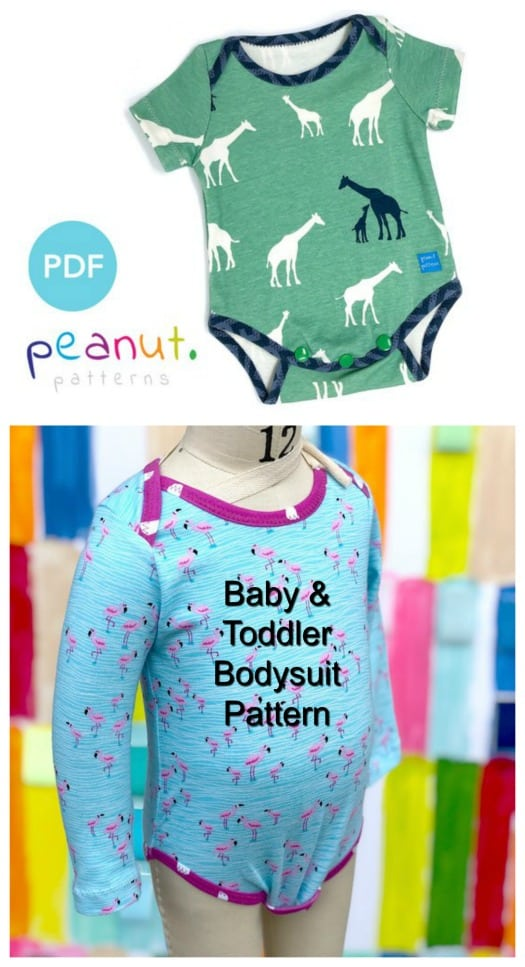 Baby and Toddler Onesie Bodysuit sewing pattern (preemie to 6yrs)