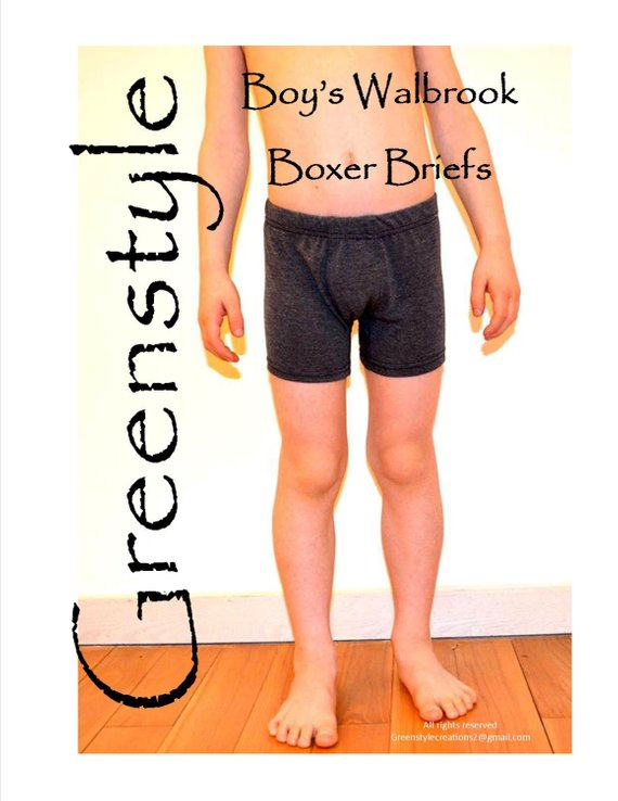 If you want to make your little guy a pair of Boxer Briefs then we have a great pattern for you. These Boxer Briefs have all the style, fit, and comfort of the men's version. The pattern comes in sizes from 2T up to 14.