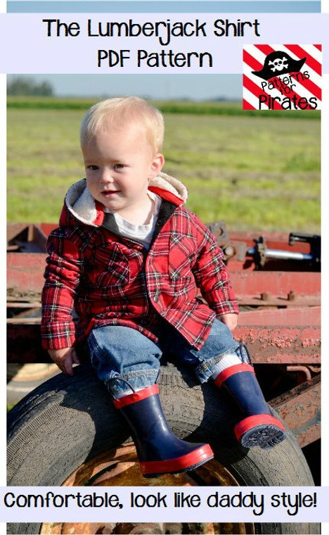 Here's a great chance to use a wonderful pattern to make a lumberjack shirt for your boy so that he can look like daddy. This pattern is perfect for an intermediate sewer to make a comfortable and cosy lumberjack shirt in many different sizes from 3 months up to 14 years old.
