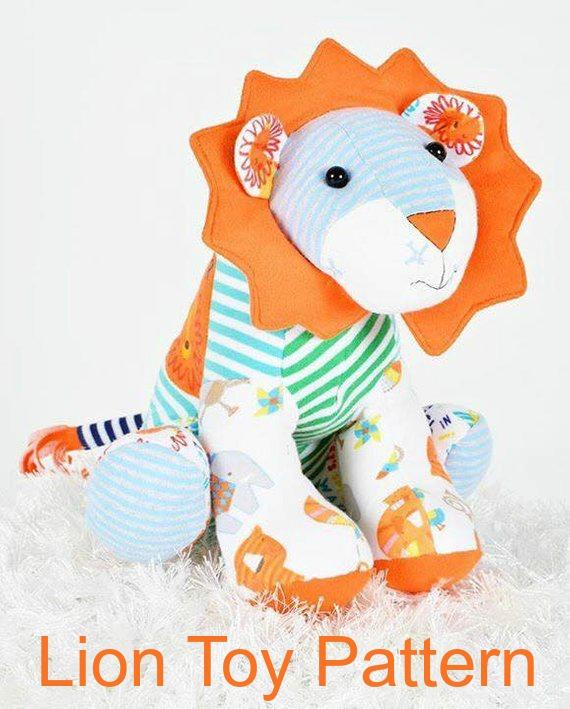 Lucky Lion stuffed animal Pattern PDF
