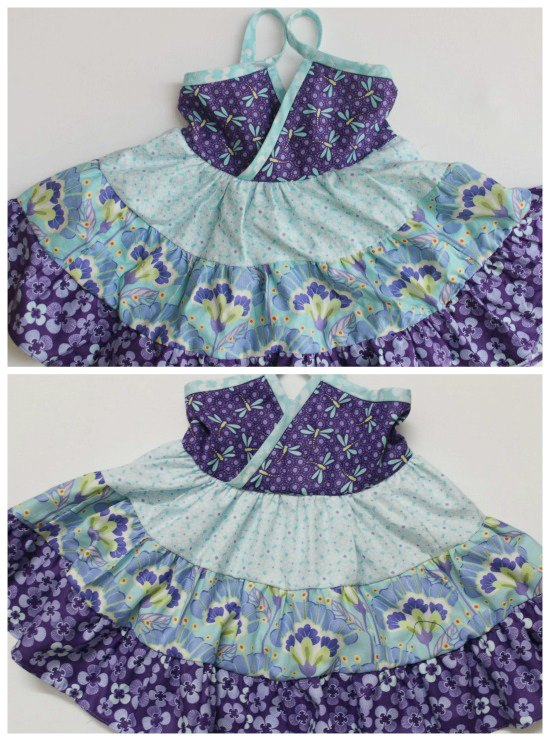 Here's a FREE pattern in size 2T for a dress called The Lucky Layers Tiered Dress. It's made in a size 2T, however, if you want to make it bigger the designer has some very good tips which are shown below.