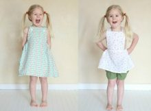 "Here are a FREE pattern and tutorial for the Sydney Pinafore Dress. A Pinafore is an Australian name for this type of garment. The designer is originally from Australia and as she says ""it was very common to see little girls running around in loose-fitting pinafores (also referred to as a pinny) during the hot weather""."