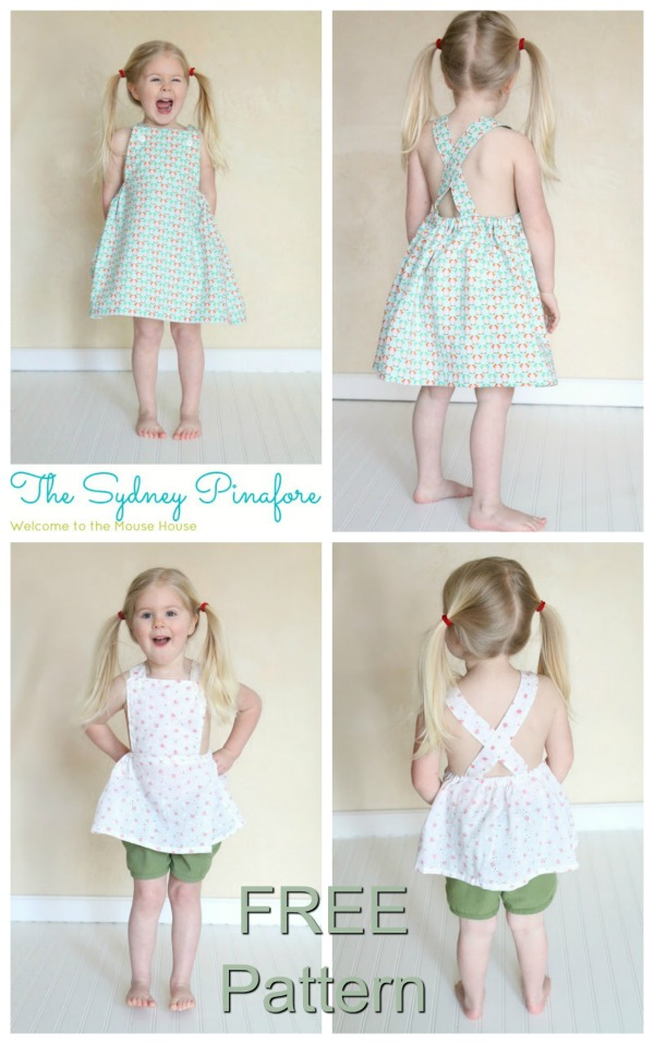 Sydney Pinafore Dress - FREE sewing pattern (12mths-4T)