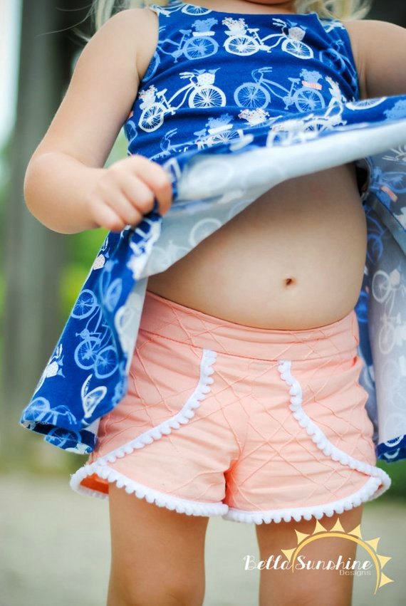 Tess Tulip Shorts sewing pattern for girls
