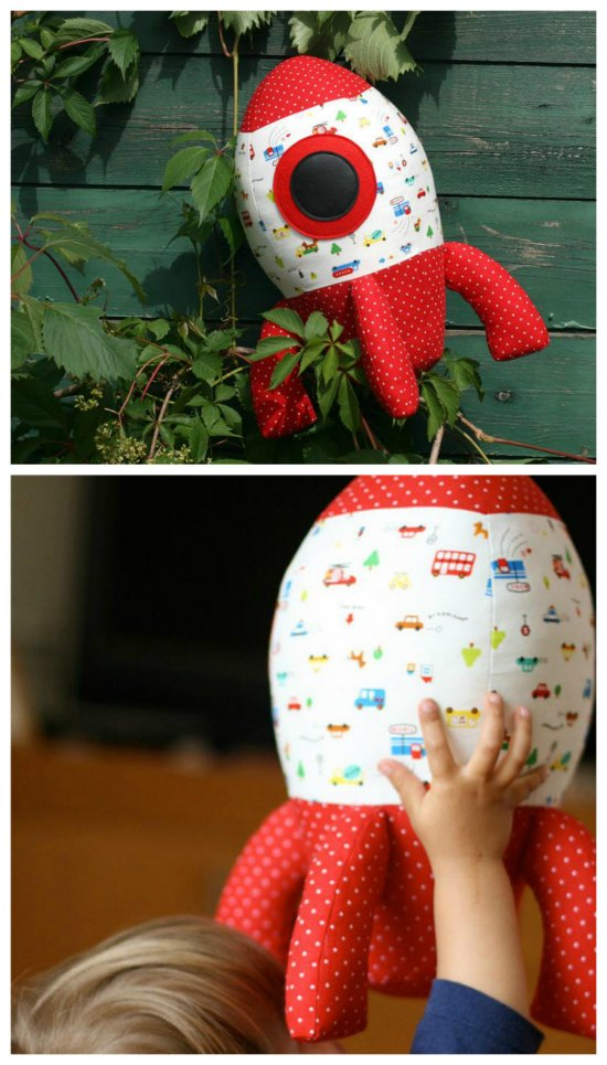 Well, how cool is this toy?Satellites, The Space Station and space travel are all in the news at the present time and now you can make this awesome Big Rocket with this downloadable sewing pattern.