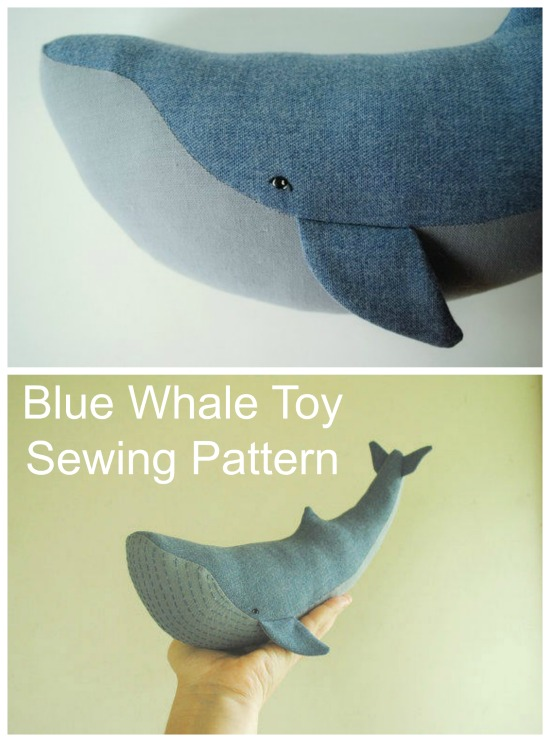 This is an Etsy BEST SELLER pattern. It's a simple sewing pattern and tutorial for making a blue whale stuffed animal. Any child would love to have this amazing sea creature as a toy to play with.