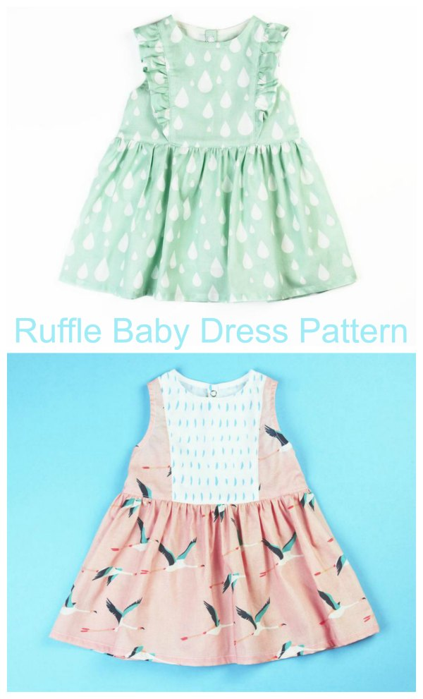 This is one of this designer's Etsy best sellers and you can see why from the photos. You can see why this great designer named her creation the Ruffle Baby Dress with the ruffles following the princess lines of the bodice from shoulder to waist. This pattern includes ten sizes which makes it great value for money.