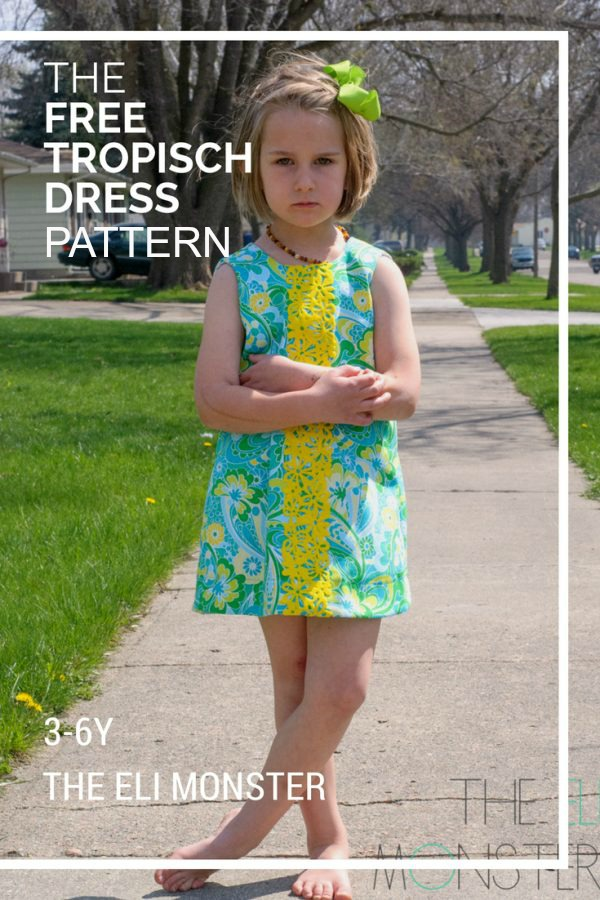 The designer of this FREE sewing pattern for The Tropisch Dress says - a staple of any summer wardrobe should be a simple shirt style dress. Shift style dresses help you to keep cool by having the least amount of fabric touching your body. They rest on your shoulders but then just sort of skims the rest and hopefully you'll get a bit of breeze and keep as cool as possible.