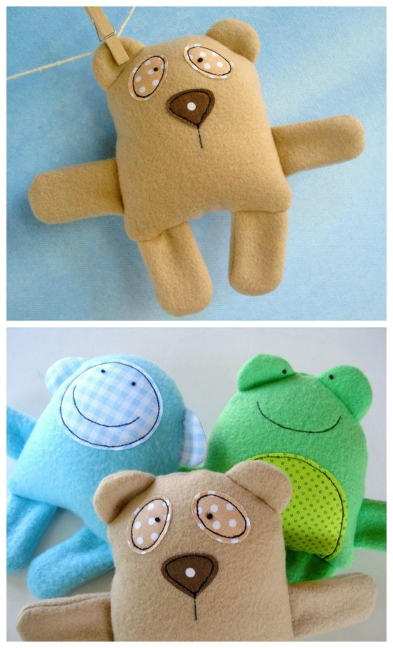 Here's a great toy for a baby or toddler which you can make if you download this designers Etsy bestseller pattern. These baby animals are soft and adorable, and there are instructions included to make six different animals.