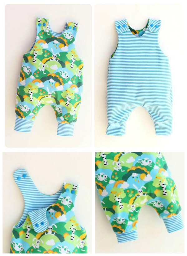 Reversible Baby Romper sewing pattern - Newborn To 6 Years
