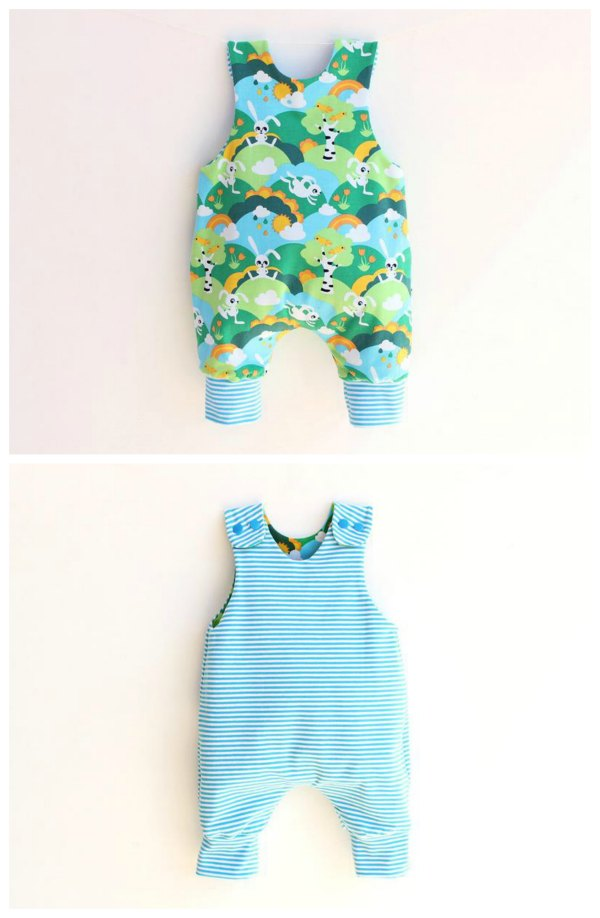 This is this awesome designers JUMPY Baby Romper pattern that is super cute, fully lined and reversible. It comes in sizes for your baby who wears diapers (or not) and for your children up to 6 years and is a project for any beginner sewer.