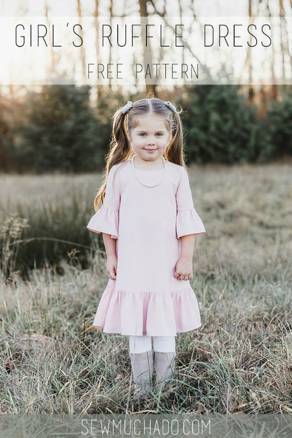 Girl's Ruffle Dress FREE sewing pattern & tutorial