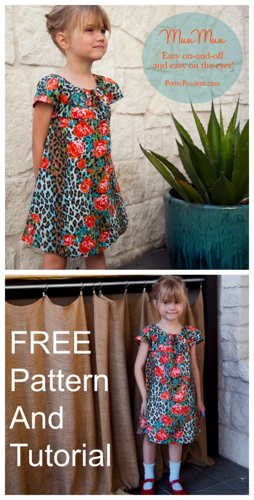 House Dress Tutorial and FREE sewing pattern