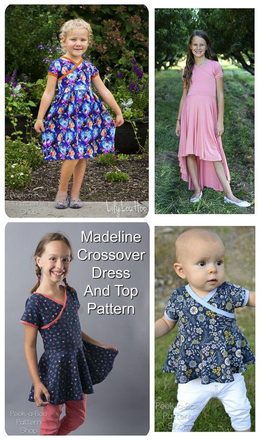 This great beginner sewer digital pattern is for the Madeline Crossover Dress and Top. This designer has again given the customer an incredible number of options when you download her pattern.