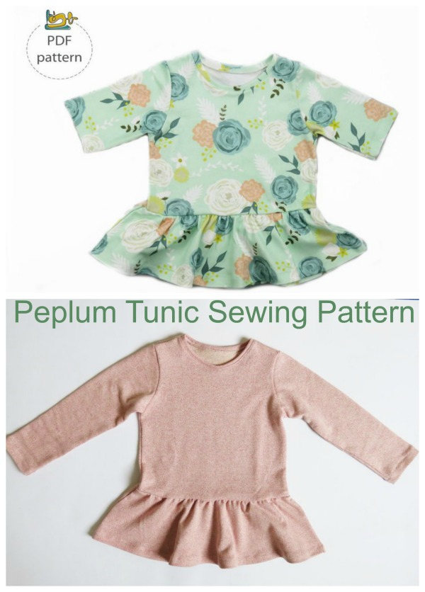 Peplum Tunic Sewing Pattern (3 months to 7 years)
