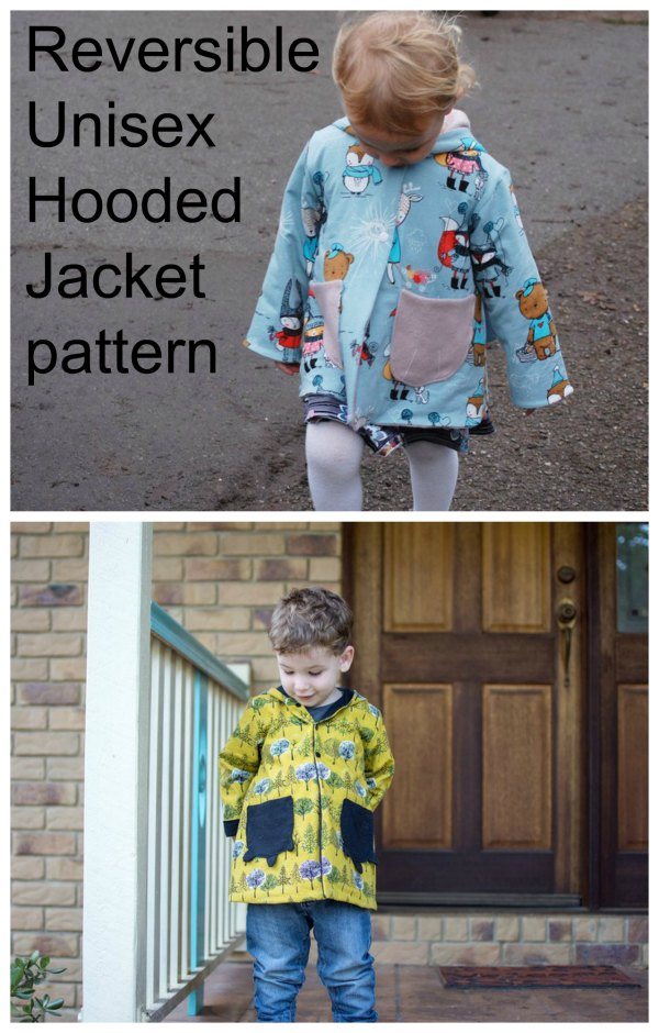 This is another great digital pattern from this very talented designer. Here she brings us all this unisex hooded jacket that is reversible, which is like getting two for the price of one. And the pattern comes in an amazing 14 sizes, from newborn babies all the way up to 10 years old.