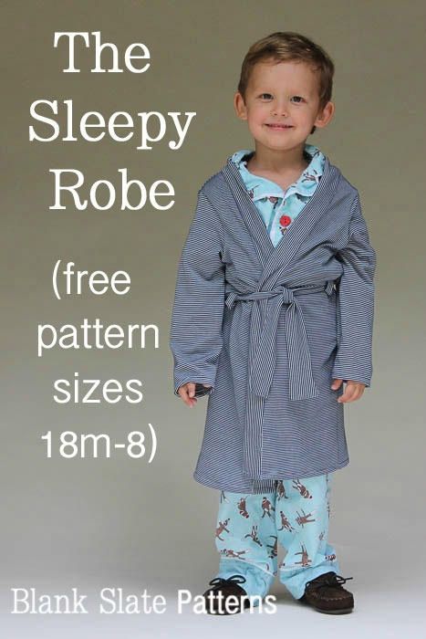 The Sleepy Robe FREE sewing pattern (18 mths to 8 yrs)