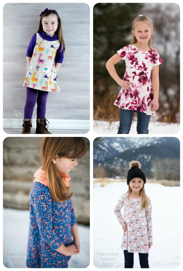 It's clear to see from these amazing photos that this awesome pattern gives you lots of scope to make many alternatives to this designers wonderful project, depending on what season of the year it is. In addition, the Sophie Swing Dress Tunic is comfy to wear and quick and easy to sew!