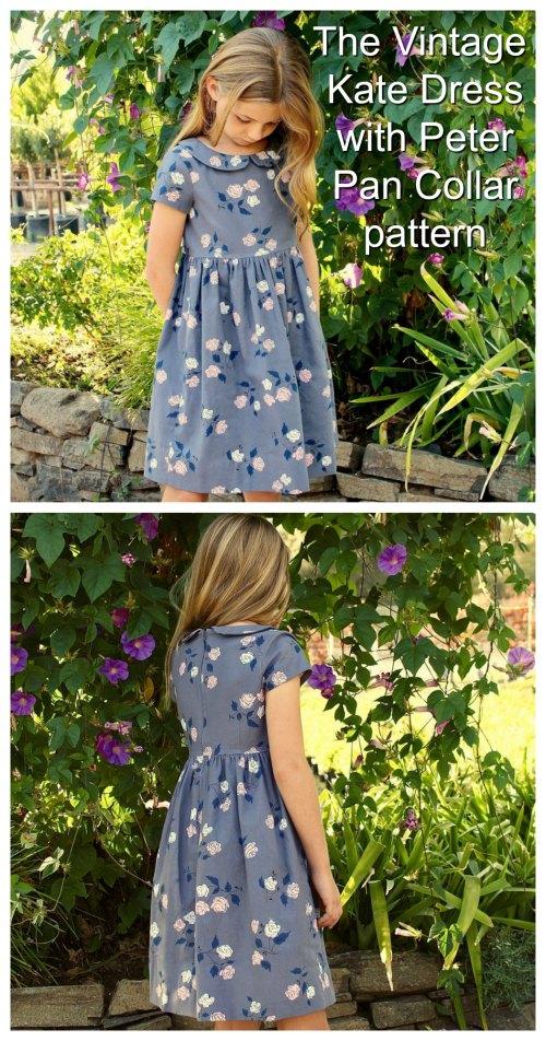 The Vintage Kate Dress (Peter Pan Collar) sewing pattern 2-8 years