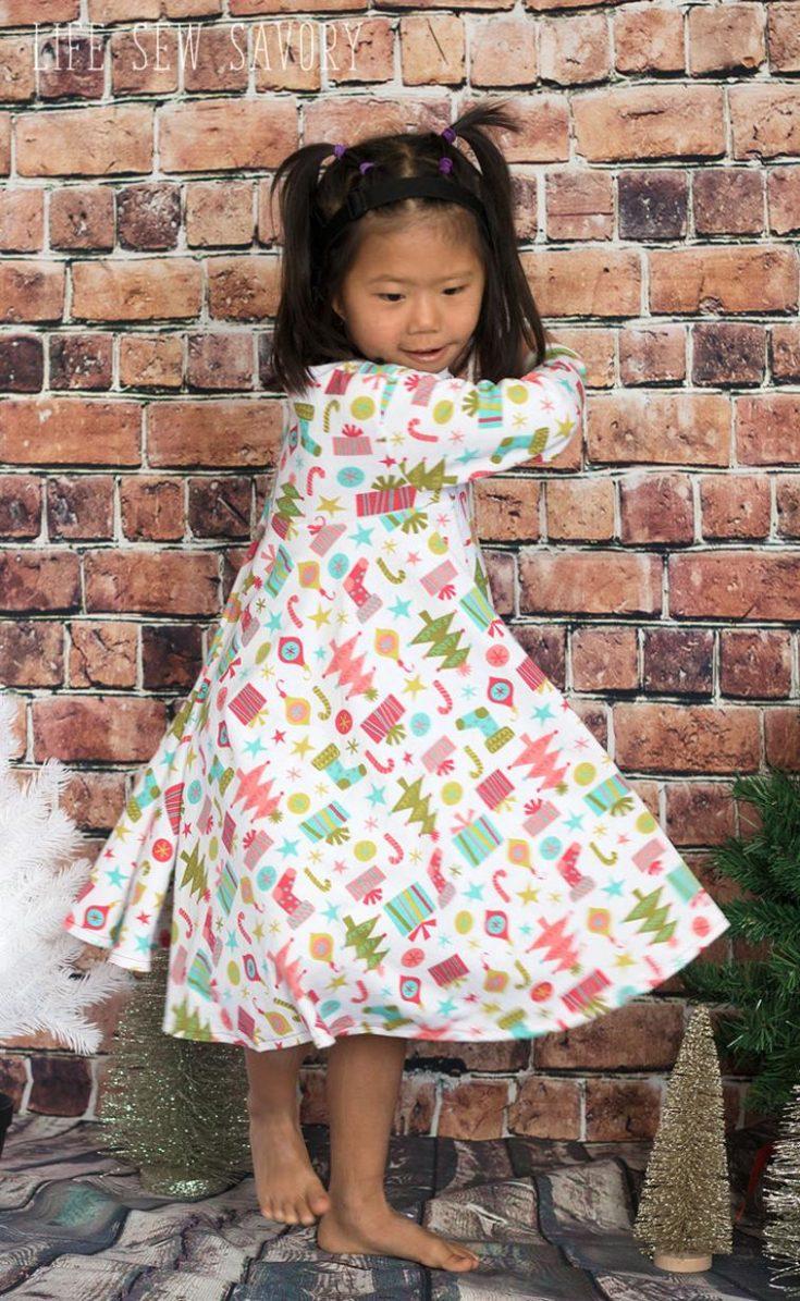 Circle Skirt Knit Dress