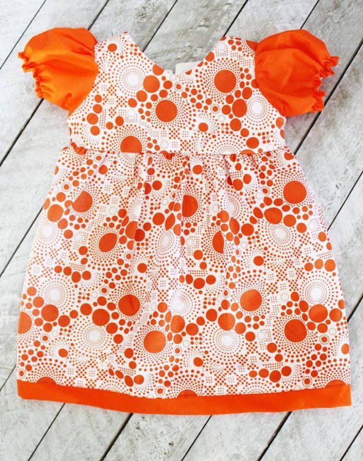 Puff Sleeve Toddler Dress