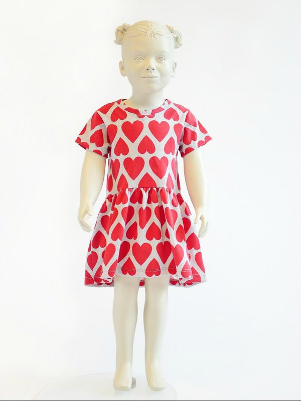 Girl's Dress sewing pattern from 2 to 10 years