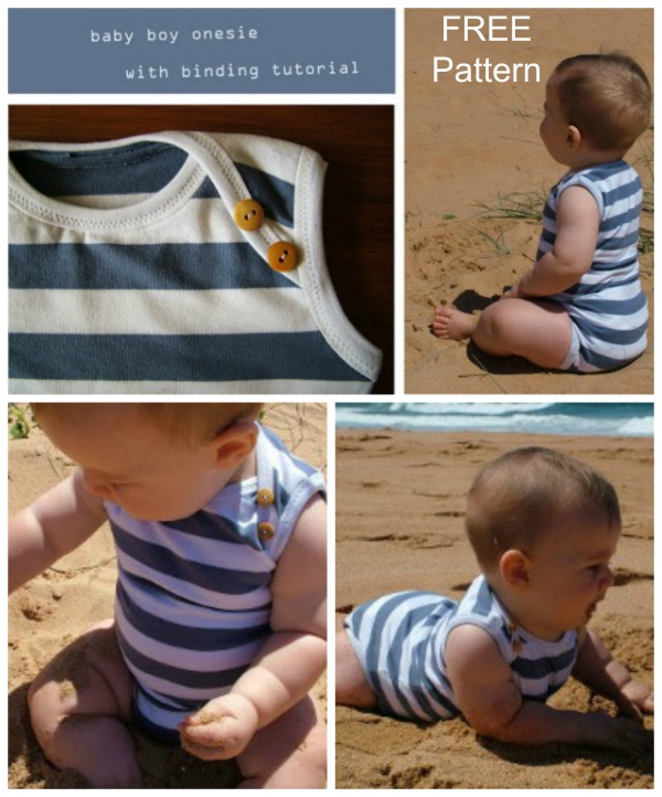 Baby Onesie With Binding FREE sewing pattern