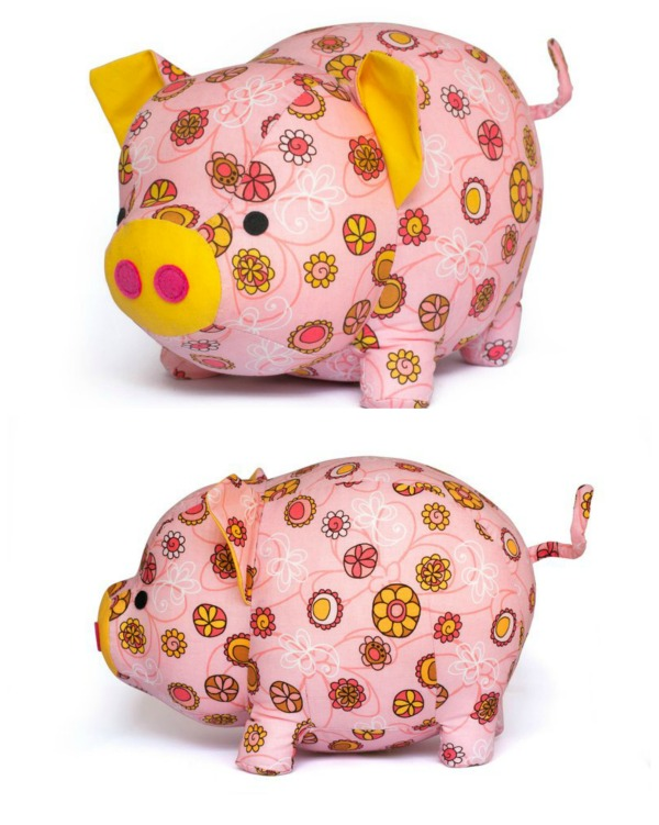 This designer makes amazing digital sewing patterns for plush toys and this one is one of her Etsy bestsellers. Everybody likes an adorable looking pig and this is what you get with this detailed pattern. It's a fun and easy project that has been made with cotton fabric, but any fabric will work with this pig pattern.