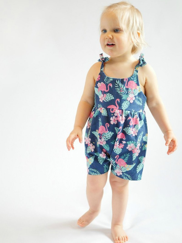 Playsuit / Romper sewing pattern size 1 month to 6 years.