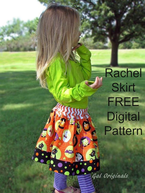 Don't these skirts look fantastic and the digital patterns for them are 100% FREE. This girl's basic skirt sewing pattern is both easy and fast to sew. It is a great skirt for casual wear or you can fancy it up and make it look really dressy!