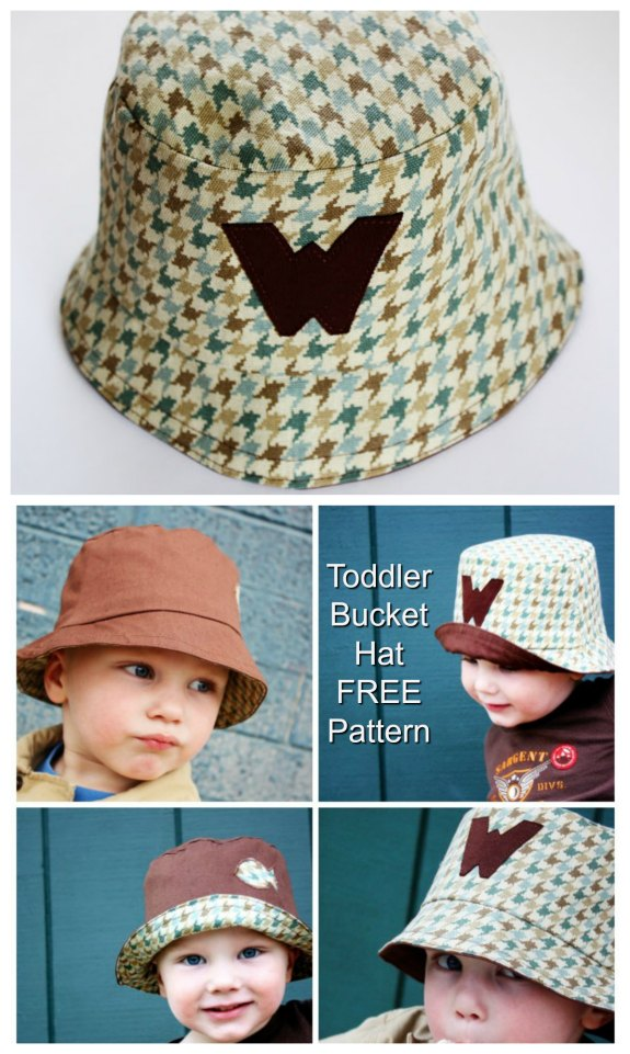 Toddler Bucket Hat - FREE sewing pattern
