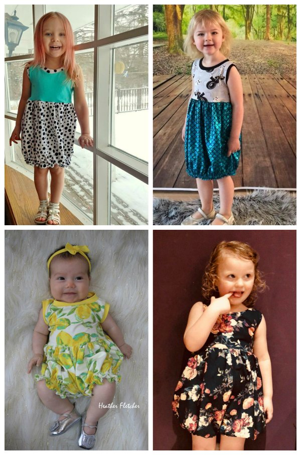 When you get a pattern from this designer they always give you it in plenty of sizes and what's more they give you plenty of options to change up the look. This spring and summer must have is the digital sewing pattern for The Girl's Whimsy Romper & Dress.