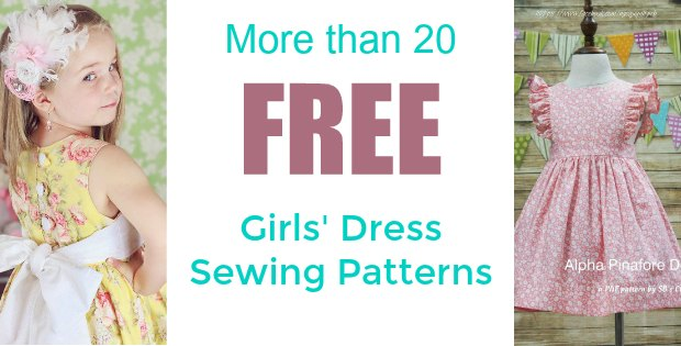 more than 20 free girls dress sewing patterns featured image