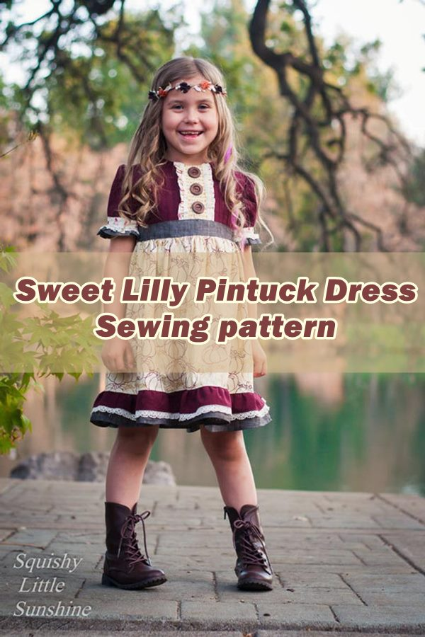 Sweet Lilly Pintuck Dress Sewing pattern