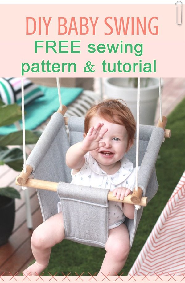 FREE DIY Baby Swing pattern and tutorial