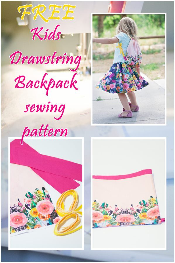 Free Kids Drawstring Backpack sewing pattern
