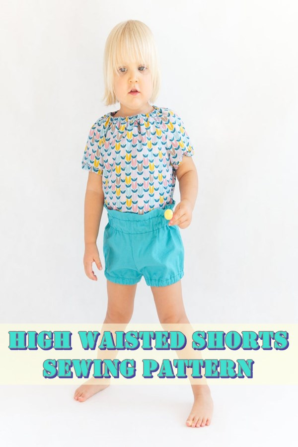 High waisted pants and shorts pattern
