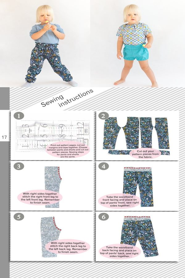 High wasted pants and shorts sewing pattern