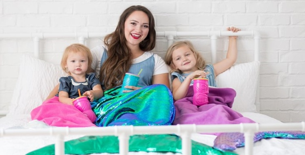 PDF File Instant Download Mermaid blanket pattern and matching Headband Mermaid Tail Blanket KNITTING PATTERN Multiple Sizes for Children