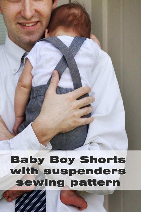 Baby Boy Shorts with suspenders sewing pattern