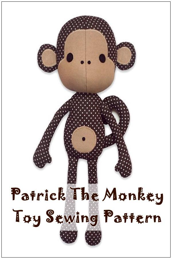 Patrick the monkey toy sewing pattern